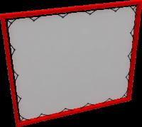 Баннерный металлокаркас 600х1600 мм