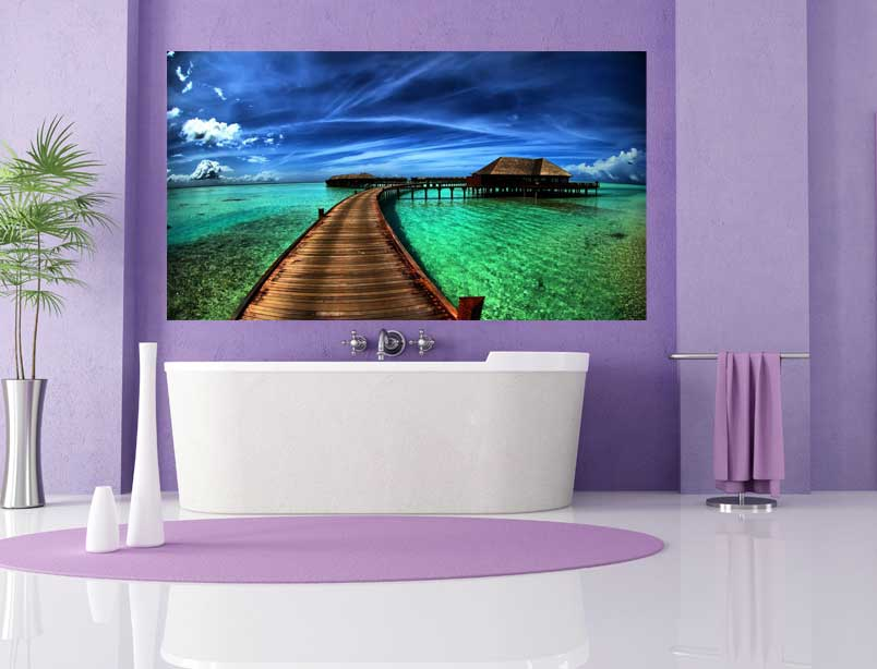 Наклейки в ванною комнату Акриловая ванна Besco Telimena 180x85
