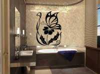 Фото: Виниловая наклейка для ванной Бабочки