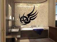 Фото: Виниловые наклейки в ванную комнату Хайтек