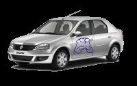 Фото: Автомобильная наклейка Кот Саймон