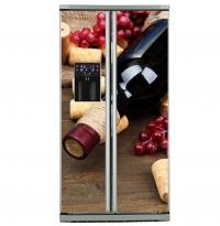 Фото: Виниловые наклейки на холодильник типа Side by side Вино