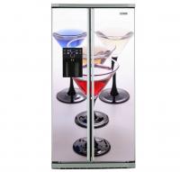 Фото: Виниловые наклейки на холодильник типа Side by side Бокалы