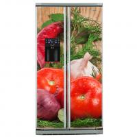 Фото: Виниловые наклейки на холодильник типа Side by side Сочный томат