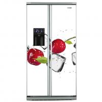 Фото: Виниловые наклейки на холодильник типа Side by side Прохлада