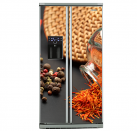 Фото: Виниловые наклейки на холодильник типа