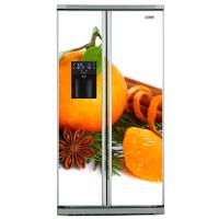 Фото: Виниловые наклейки на холодильник типа Side by side Доброе утро