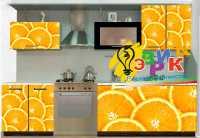 Фото: Наклейки на кухню Наклейки на мебель Апельсин