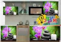 Фото: Наклейки на кухонную мебель - Орхидея