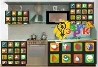 Фото: Виниловые наклейки Декоративные наклейки Наклейки на кухню Наклейки на мебель Краетивные продукты