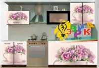 Фото: Наклейки на кухонную мебель - Розы