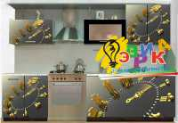Фото: Виниловая наклейка на кухню Время деньги Наклейка на кухонную мебель Прванс и мосты