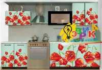 Фото: Наклейки на фасад кухни - Цветы