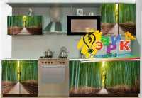 Фото: Наклейки на кухонные шкафы 3D Бамбуковая роща