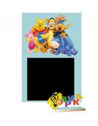 Фото: Детская доска самоклейка для рисования мелом Винни Пух 50Х80