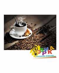 """Наклейки рекламные """"Кофе"""", кофейные зерная, чашка кофе"""