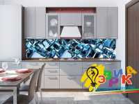 Фото: Кухонные скинали Абстракция