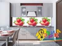 Фото: Кухонные скинали Клубника