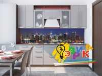 Фото: Кухонные скинали Ночной город