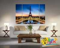 Фото: Модульная картина Эльфивая башня в Париже на трех холстах