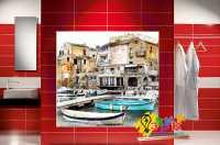 Фото: Стеновые панели в ванную Венеция