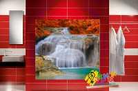 Фото: Стеновые панели в ванную Водопад