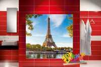 Фото: Стеновые панели в ванную Париж