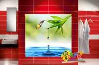 Фото: Стеновые панели в ванную Позитив