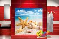 Фото: Стеновые панели в ванную Ракушки