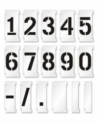 Фото: Цифры для обменов валют 100x55 мм комплект 240 шт