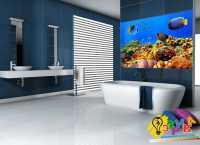 Фото: Виниловая наклейка в ванную рыбки