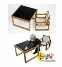 Фото: Детский столик меловой квадратный