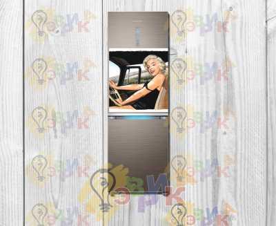Фото: Магниты на холодильник виниловые Гламур