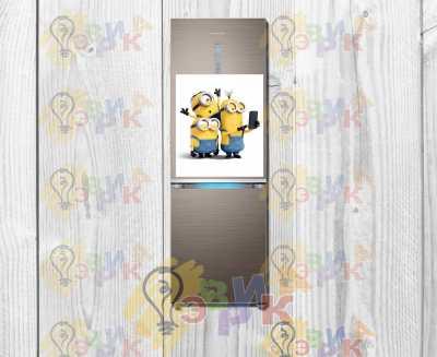 Фото: Магниты на холодильник виниловые Миньены