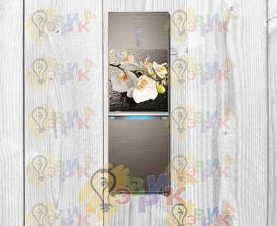 Фото: Гибкий магнит на холодильник - Орхидея 50х60 см