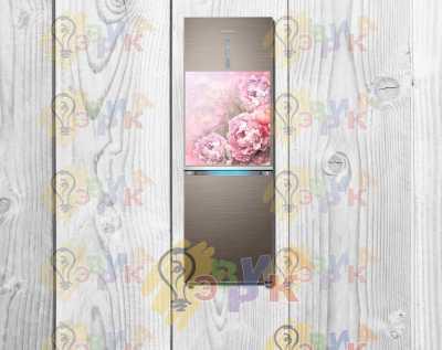 """Фото: Полноцветный магнит на холодильник """"Пионы"""" 50х60 см"""
