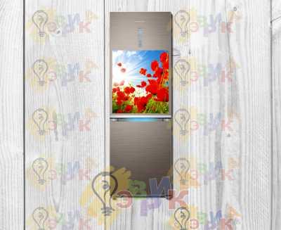 Фото: Магнитная наклейка на холодильник Цветы 50х60 см