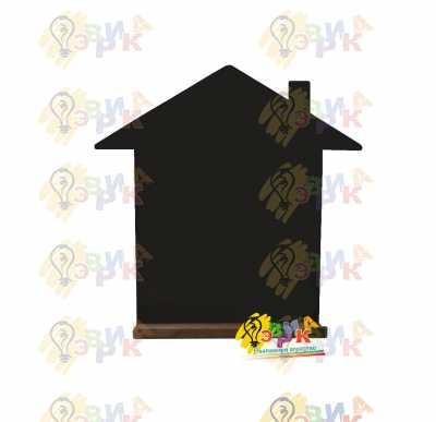 Фото: Меловая доска фигурная Домик с полочкой