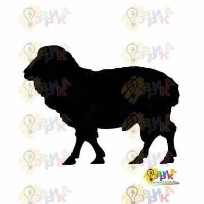 Фото: Меловая доска фигурная Баран