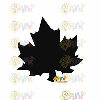 Фото: Меловая доска фигурная Кленовый лист