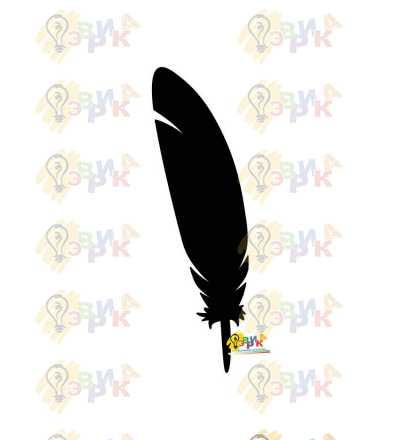 Фото: Меловая доска фигурная Перо