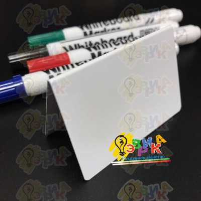 Фото: Ценники белые маркерные А образные