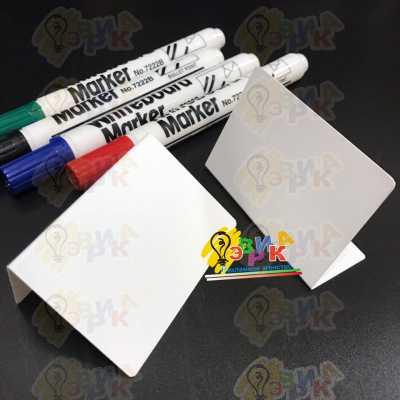 Фото: Ценники белые маркерные Л образные