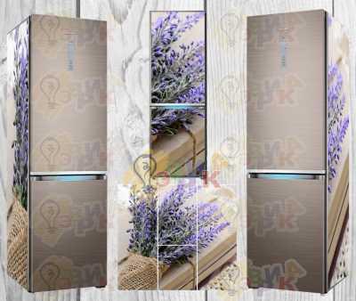 Фото: Наклейки на холодильник премиум серии Лаванда