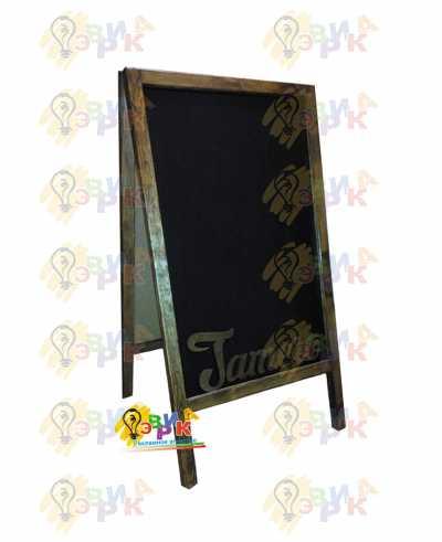 Фото: Меловой штендер с объемным логотипом