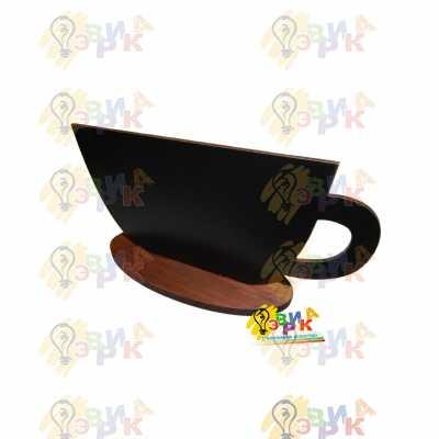 Фото: Меловая табличка чашка на овальной подставке