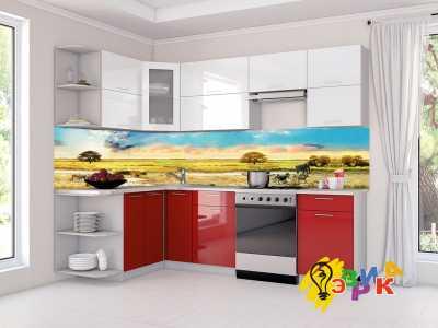 Фото: Кухонные скинали Сафари