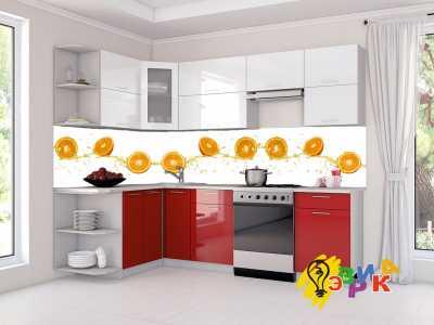 Фото: Кухонные скинали Апельсины