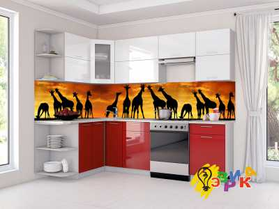 Фото: Кухонные скинали Африка