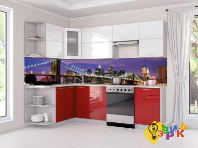 Фото: Кухонные скинали Огни ночного города
